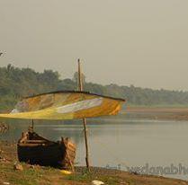 A resting catamaran